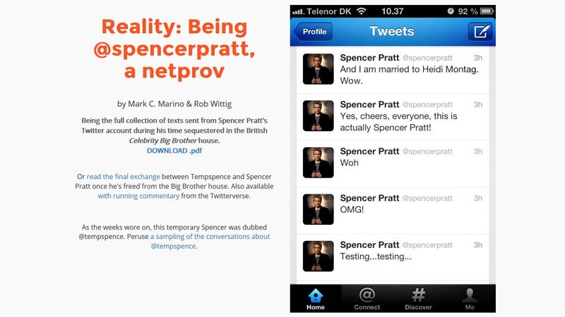 gallery image of Being @Spencerpratt