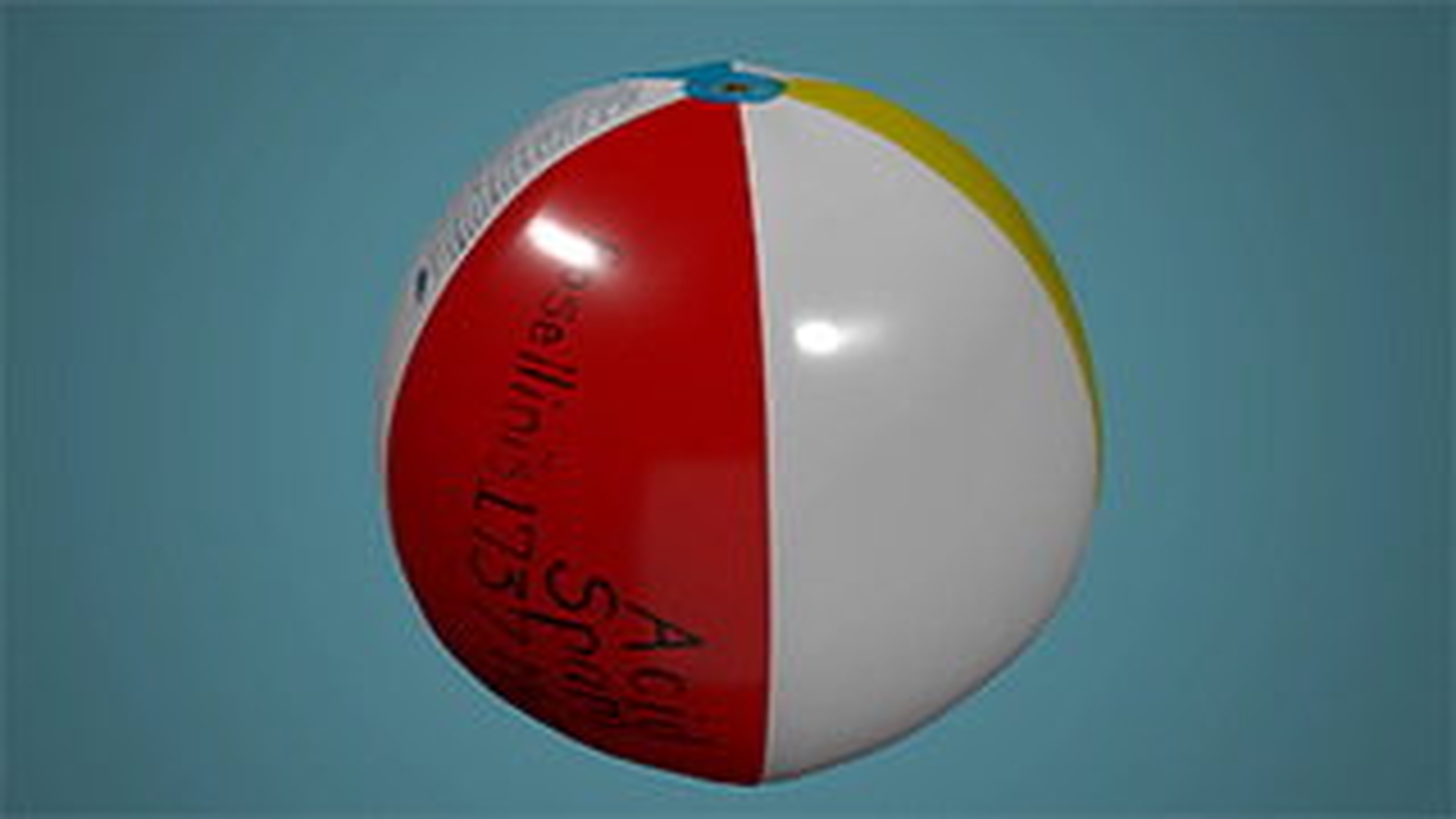 A 3D model of Richard Holeton's beach ball