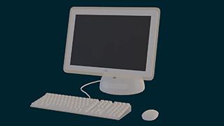 a 3D model of an iMac G4