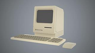 A 3D model of a Macintosh Classic