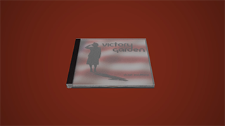 a 3D model of the Victory Garden CD-ROM and jewel case